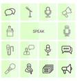 14 speak icons vector image vector image