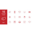 15 day icons vector image vector image