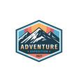 adventure expedition mountain badge design vector image