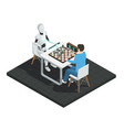 artificial intelligence isometric composition vector image