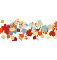 autumn leaves falling and spinning on white vector image vector image