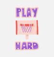 basketball rim isolated on vector image