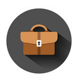 briefcase sign icon in flat style suitcase on vector image