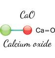 CaO calcium oxide molecule vector image vector image
