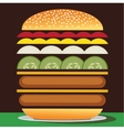 Cheeseburger double vector image