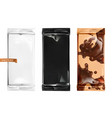 chocolate packaging 3d mockup vector image