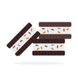chocolate sandwich cookies flat isolated vector image vector image