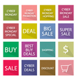Collection of Cyber Monday Banner for Special Pric vector image vector image