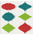 colored frames on grey background vector image vector image