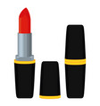 colorful cartoon red lipstick vector image vector image