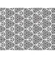 contrast seamless pattern of snowflakes with vector image vector image