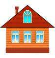 country house with attic vector image
