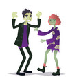 couple of halloween characters in cartoon style vector image