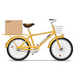delivery bicycle vector image vector image