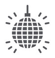 disco glyph icon decor and celebration party vector image