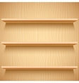 Empty Wooden Shelves vector image vector image