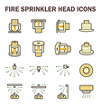 Fire sprinkler icon vector image vector image