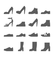 footwear icon set collection shoes vector image