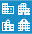 four buildings minimal icons offices apartments vector image