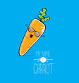 funny cartoon orange carrot character vector image vector image