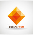 geometric company emblem icon vector image