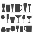 glass collection vector image vector image