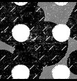 grunge seamless pattern black and white messy vector image vector image