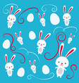happy easter rabbits easter funny bunny vector image