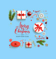 holiday boxes card vector image