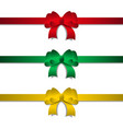 holiday ribbon and bow vector image vector image