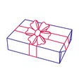 isolated gift design vector image vector image