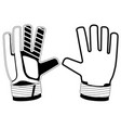 isolated goalkeeper gloves icon vector image
