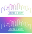 jersey city skyline colorful linear style vector image vector image