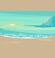 landscape with sand tropical beach vector image
