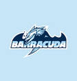 logo a club or company with name barracuda vector image