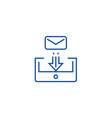 mail box post line icon concept mail box post vector image vector image