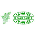 marijuana leaves collage tamil nadu state map with vector image vector image