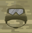 military modern camouflage helmet army symbol of vector image vector image