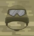 military modern camouflage helmet army symbol