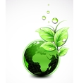 Natural green World with leaves and water vector image