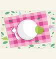 picnic card design vector image