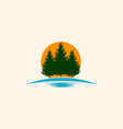 pine tree forest landscaping creative logo vector image vector image