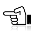 Pointing hand icon vector | Price: 1 Credit (USD $1)