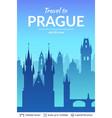 prague famous city scape vector image vector image