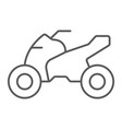 quadbike thin line icon bike and extreme atv vector image vector image