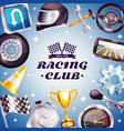 racing club frame vector image vector image