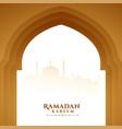 ramadan kareem wishes greeting with mosque door