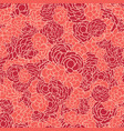 red coral roses floral texture seamless vector image
