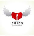 rock love logo vector image