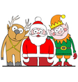 santa and friends vector image